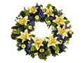 Lilac & Yellow Wreath